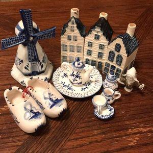 15 piece Lot of Dutch Blue Delft miniatures